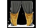 Дизайн штор в стилі Лофт