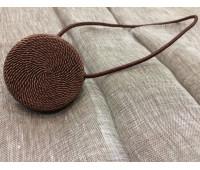 Магніт плетений Круг, коричневий