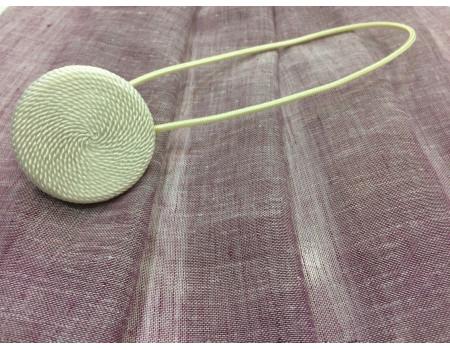 Підхват-магніт плетений Круг, молочний