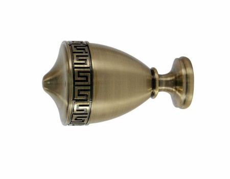 Фінал для трубчастого карниза Афіна, антик 25мм