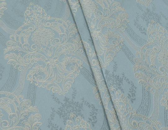 Портьєрна тканина Aler A-13 сірий, лазур