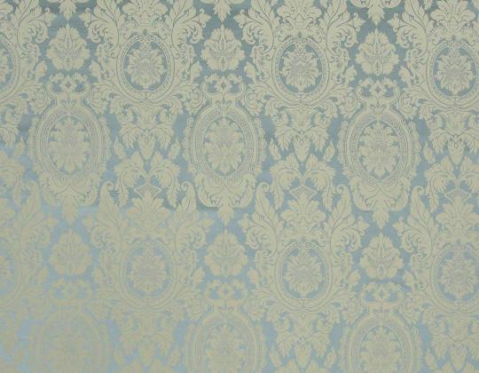 Портьєрна тканина Вензель V-13 лазур, золото-беж