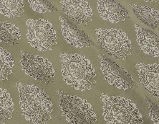 Портьєрна тканина Domin D-1 коричневий/бежевий