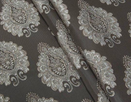 Портьєрна тканина Domin D1 коричневий