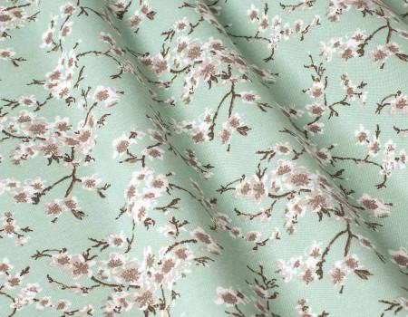 Декоративна тканина Сакура, бірюза