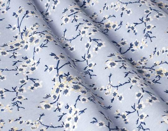 Декоративна тканина Сакура, синій