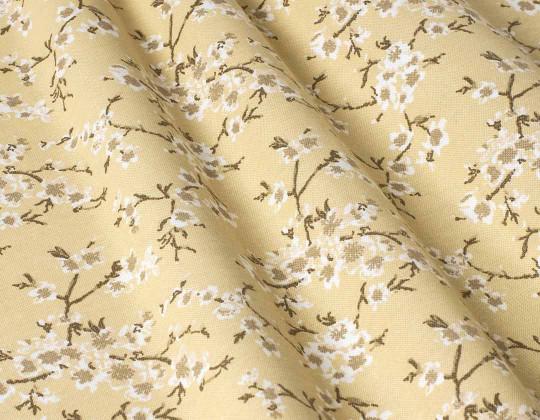 Декоративна тканина Сакура, жовтий