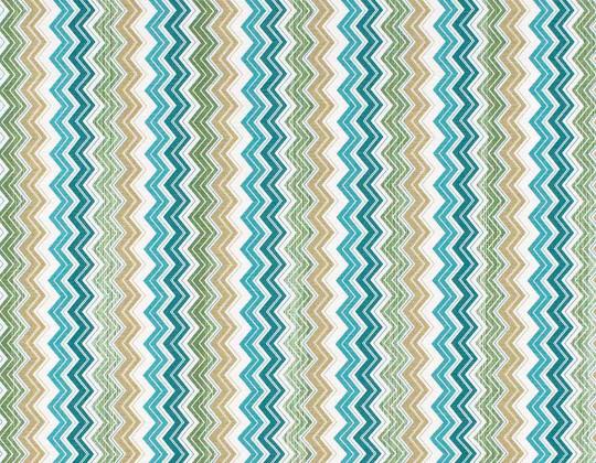 Декоративна тканина Зиґзаґ, бірюза