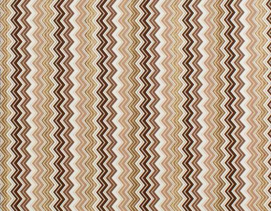 Декоративна тканина Зиґзаґ, коричневий