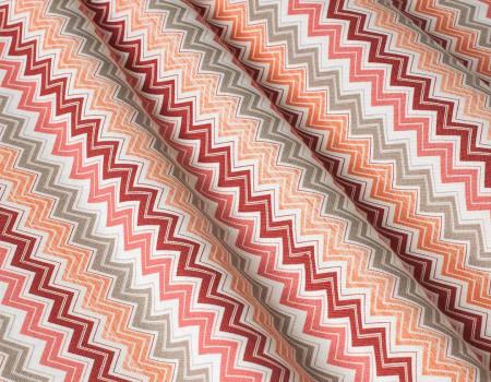 Декоративна тканина Зиґзаґ, червоний