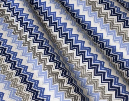 Декоративна тканина Зиґзаґ, синій
