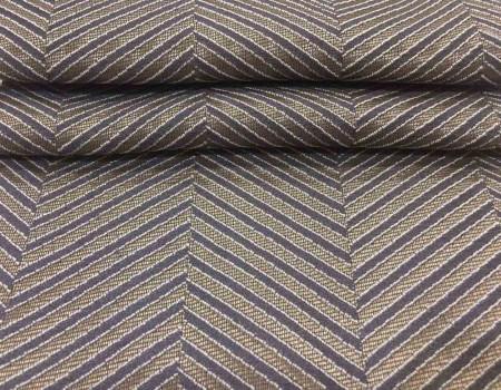Портьєрна тканина  Mira ялинка коричневий/сірий