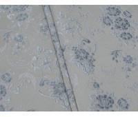 Полі P-13, фон пісок, квітисіро-блакитні