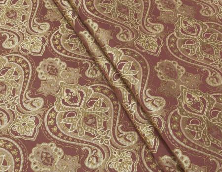 Портьєрна тканина Риф вензель, FA-13 бордо