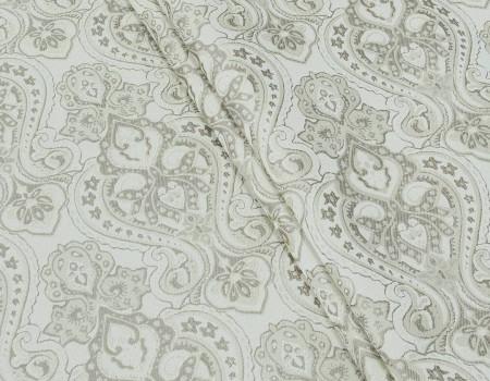 Портьєрна тканина Риф вензель, FA-13 бежевий/сірий
