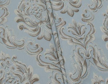 Портьєрна тканина Вензель сеше великий V-1 сірий