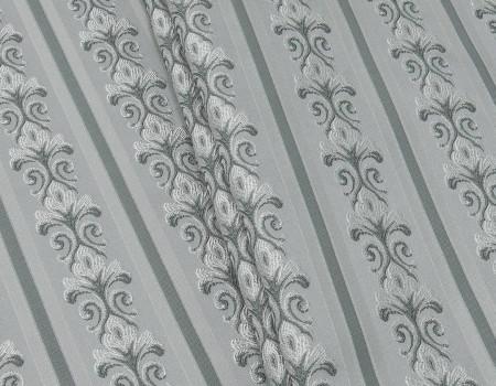 Портьєрна тканина Сеше смужка PL-13 срібло, сірий