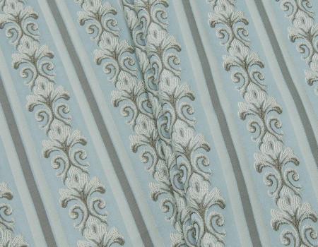 Портьєрна тканина Сеше смужка PL-13 бежевий, блакитний