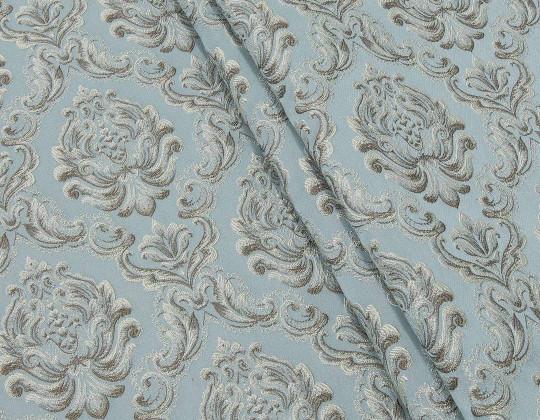 Портьєрна тканина Вензель Сеше  V-13 т.лазур, т.беж