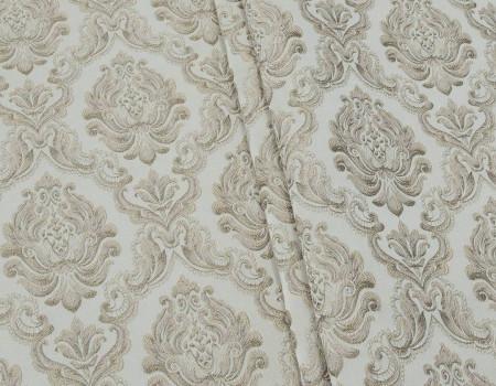 Портьєрна тканина Вензель Сеше  V-13 бежевий, золото