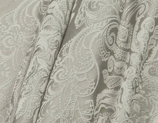Портьєрна тканина Вензель атлас VA-14 сірий