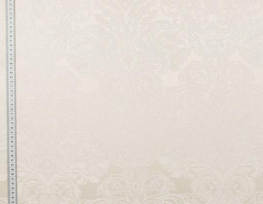 Портьєрна тканина Вензель атлас VA-14 кремово-сливовий