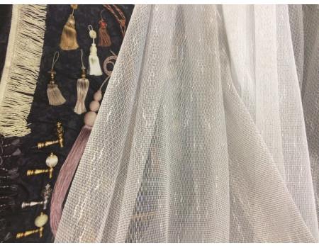 Гардинне полотно Тюль-сітка 2267, коричневий