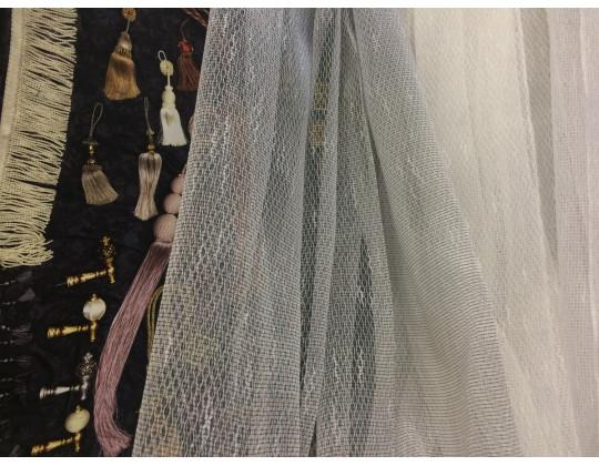 Гардинне полотно Тюль-сітка 2267, сірий
