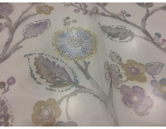 Гардинне полотно Фантазія 4316, бежевий/сірий/фіолетовий