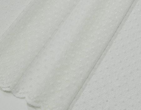 Гардинне полотно Гіпюр Горошок T-1 молочний