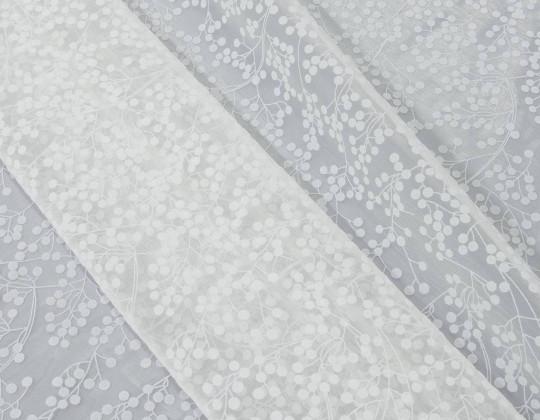 Гардинне полотно Органза O-1 білий
