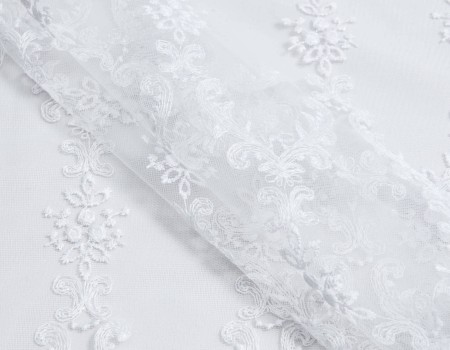 Гардина Вишивка PR-14 білий
