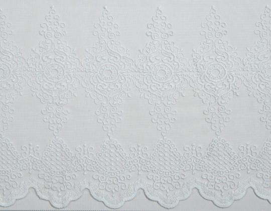 Гардинне полотно Вишивка M-14 молочний